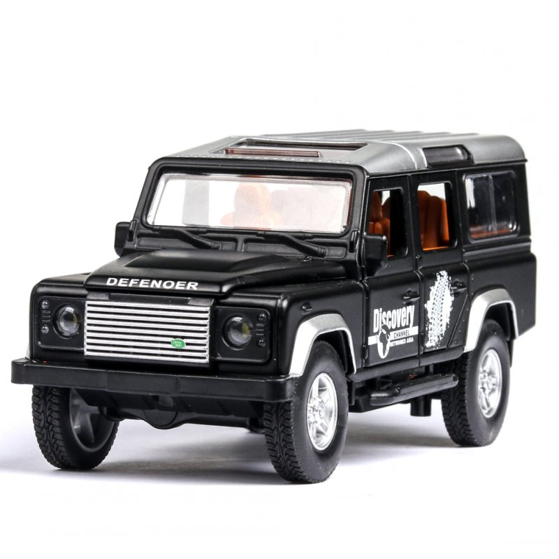 Simulation SUV Off-road Car Alloy Pull Back Auto Toy Gift Collection black