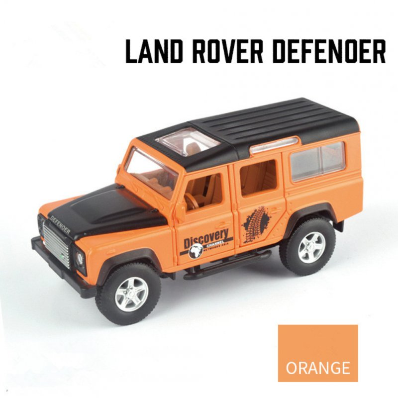 Simulation SUV Off-road Car Alloy Pull Back Auto Toy Gift Collection Orange
