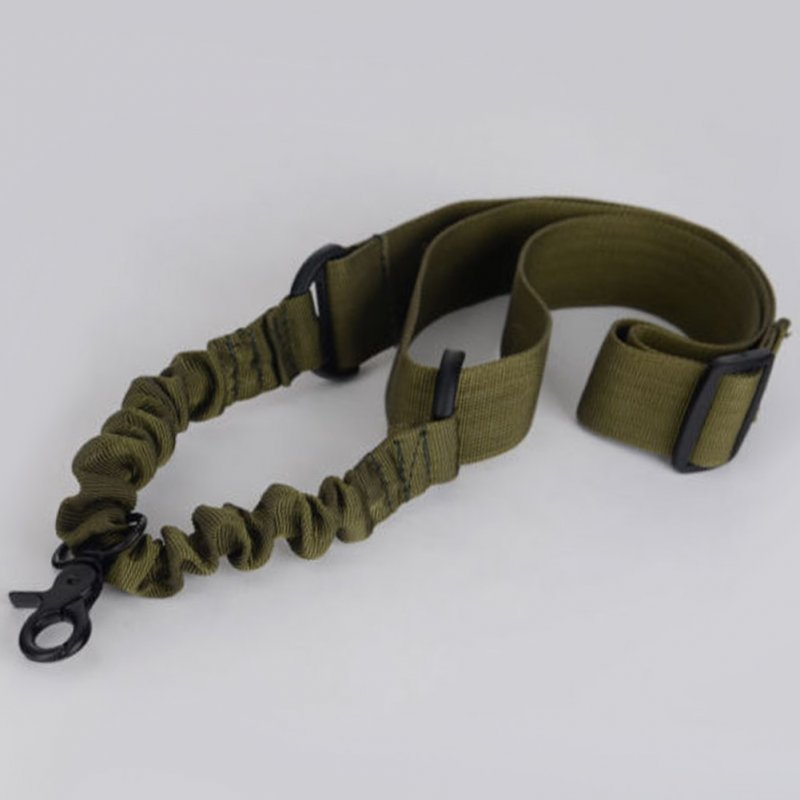 Single Point Tactical Sling Strap Bungee Hook Adjustable Nylon Shoulder Strap Gun Sling for Rifle Hunting Army green