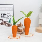 Sisal Climbing  Frame Two-color   Rope Carrot Shape Cat Toy Pet Supplies Two-color sisal carrot_26*26*29 medium