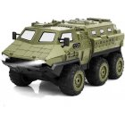 Six Wheel Army Truck 1/16 Remote Control Armored Vehicle Full Scale Six Drive Remote Control Stunt Climbing Car green
