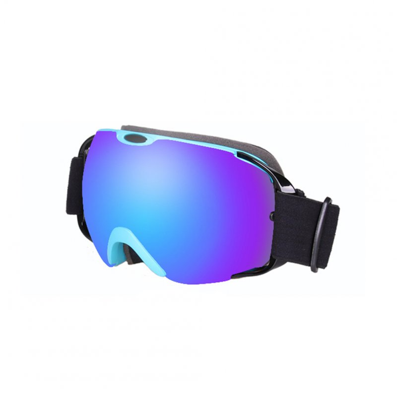 Ski Goggles Double Layer Antifog Large Spherical Snow Sports Snowboard Mountain Climbing Goggles blue