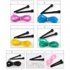 Skipping Rope PVC Adjustable Jump Rope Fitness Sport Exercise Cross Fit black