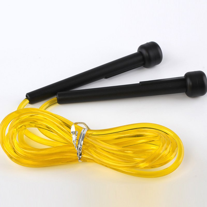 Skipping Rope PVC Adjustable Jump Rope Fitness Sport Exercise Cross Fit yellow