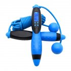 Skipping Rope Smart Electronic Counting Adult Fitness Jump Rope Ultra-speed Ball Bearing Skipping Rope Fitness Training Black blue