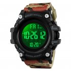 Skmei Outdoor Luminous Alarm Stopwatch Counts Down Digital Electronic Watch camouflage