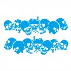 Skulls Bones Pattern Car Truck Vinyl Side Body Graphics Stickers Scratch Decal blue