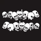 Skulls Bones Pattern Car Truck Vinyl Side Body Graphics Stickers Scratch Decal white