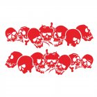 Skulls Bones Pattern Car Truck Vinyl Side Body Graphics Stickers Scratch Decal red