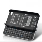 Slider Keyboard Case for iPhone 4 4S uses Bluetooth pairing and has a simple QWERTY Lay Out