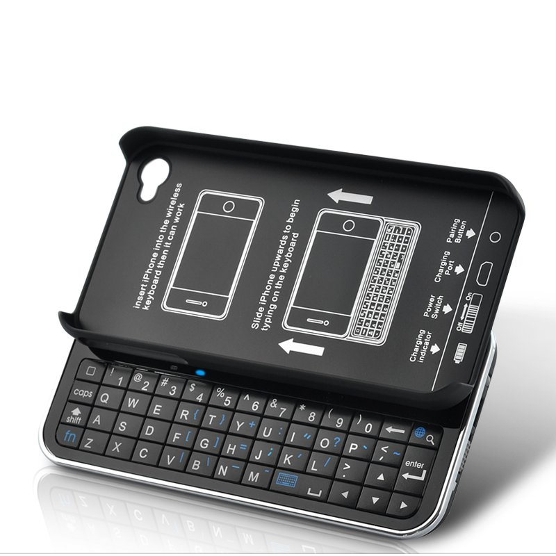 Bluetooth iPhone 4S QWERTY Keyboard Case