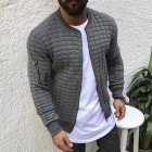 Slim Fit Jacket Leisure Sports Coat Men Casual Jacket gray_XL