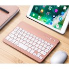 Slim Portable Mini Wireless Bluetooth Keyboard for Tablet Laptop Smartphone iPad  7/8 inch gold
