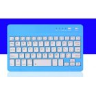 Slim Portable Mini Wireless Bluetooth Keyboard for Tablet Laptop Smartphone iPad  7/8 inch blue