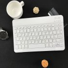 Slim Portable Mini Wireless Bluetooth Keyboard for Tablet Laptop Smartphone iPad  9.7/10.1 inch white