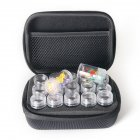 Slots Diamond Embroidery Zipper Storage Box with Transparent Beads Display Bottles black_15 grid