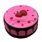 Slow Rebound Antistress Toy Round Strawberry Mousse Cake Squishy Toy PU Foaming Educational Learning Toys red_13 * 5cm