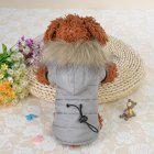 Small Clothes with Cap Warm Jacket Costume Coat for Fall Winter Small Dog Pets Clothing