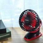 Small Fan Charging USB Fan Desktop Clip 4-Inch 6400mA Meteorite black 4000mAh