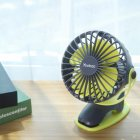 Small Fan Charging USB Fan Desktop Clip 4-Inch 6400mA Space Gray 4000mAh