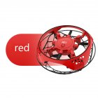 Small Intelligent Induction Four-axis Aircraft Resistant to Mill Suspension Aircraft UFO Mini Drone Toy red
