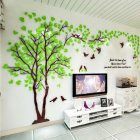 Small Lovers Tree 3D Wall Sticker Artistical Wall Stickers for Family Living Room Bedroom Wall Decoration Left version