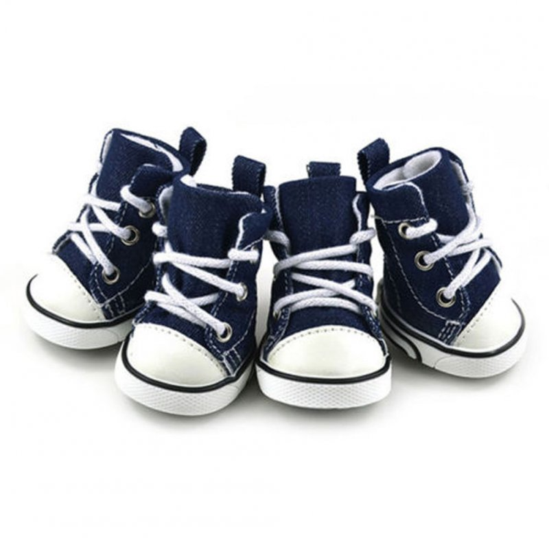 Small Pet Dog cat Denim Shoes