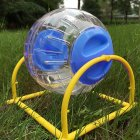 Small Size Running Ball with Bracket for Pet Hamster blue_12cm