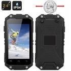 Smallest IP54 Rugged phone has a 2 4 inch display  Dual core MTK6572W CPU  Dual WCDMA GSM SIM slots and micro SD card slot
