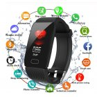 Smart Band Blood Pressure Q1 Heart Rate Monitor Fitness Tracker Watch Fitness Bracelet Waterproof Weather Display Women black