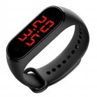 Smart Band LED Display Body Temperature Measurement Touch Screen Smart Bracelet black_Boxed