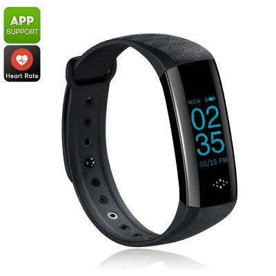 Fitness Tracker Bracelet (Black)