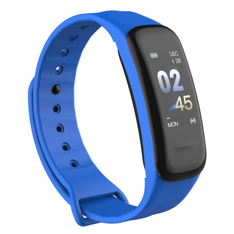Smart Bracelet Color-screen Fitness Tracker Blood Pressure Heart Rate Monitor Sleep Tracker Wristband for Android IOS blue