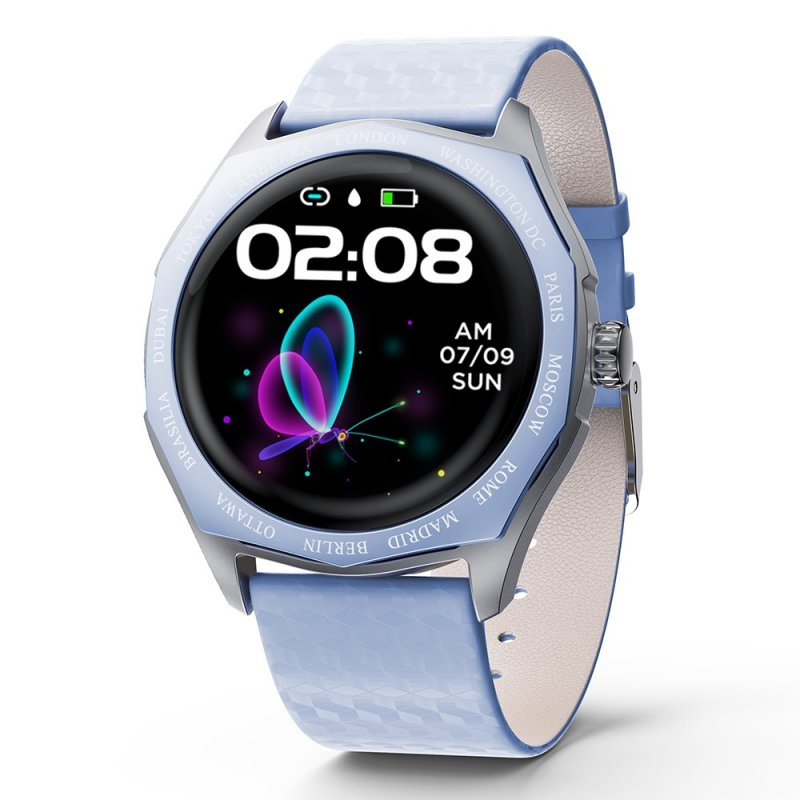 Smart Fitness Bracelet Blood Pressure Measurement Relogio Heart Rate Smart Band Watch Full Touch Screen Smart Watch blue