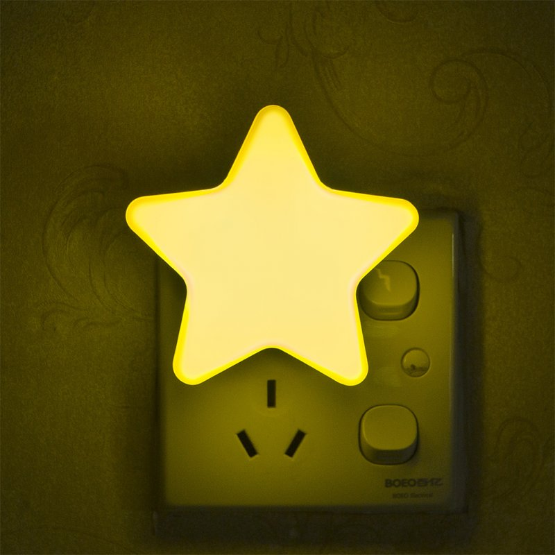 Smart Light Sensor Star-shape LED Bed Light