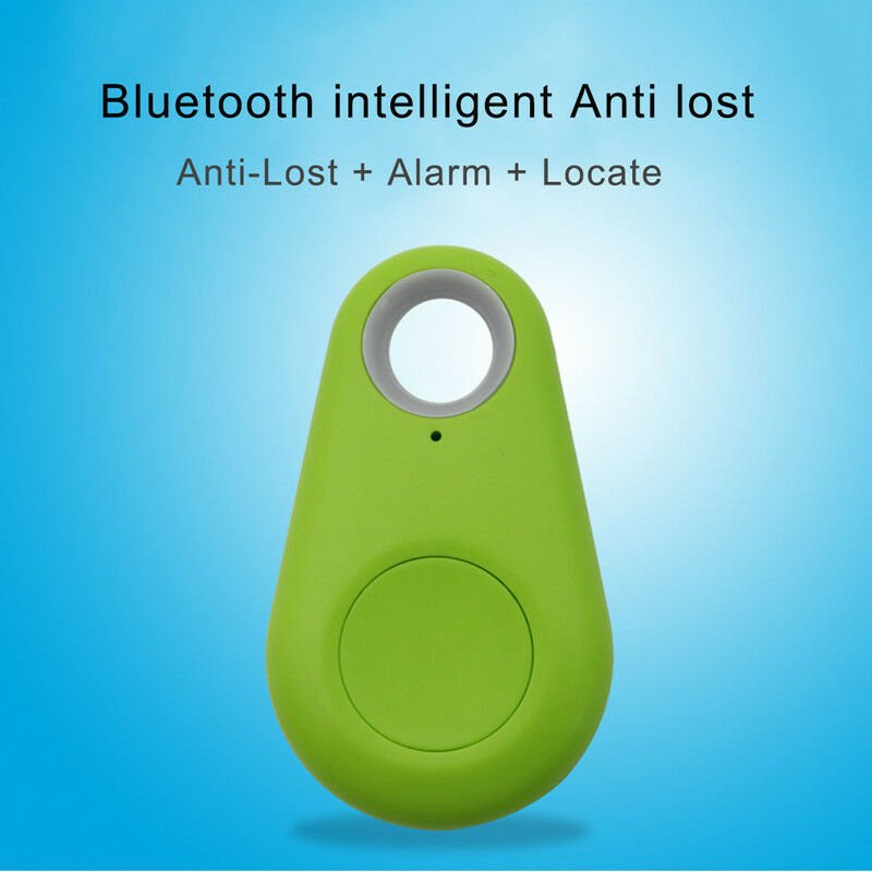 Smart Mini Waterproof Bluetooth GPS Tracker for Pet Dog Cat Keys Wallet Bag Kids green