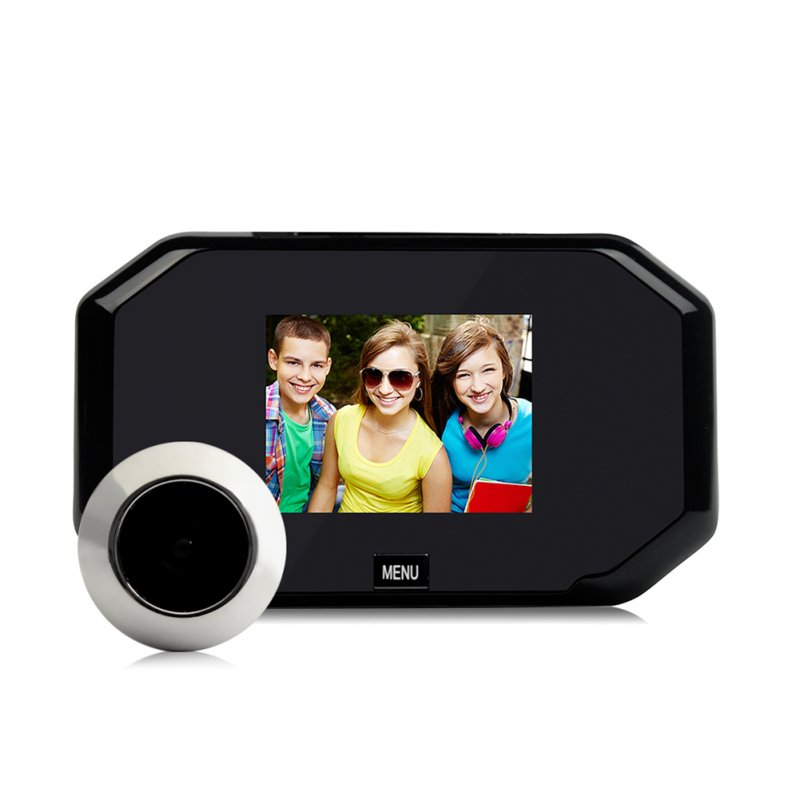 Smart Visual Electronic Peep Hole 3 Inch Display Black