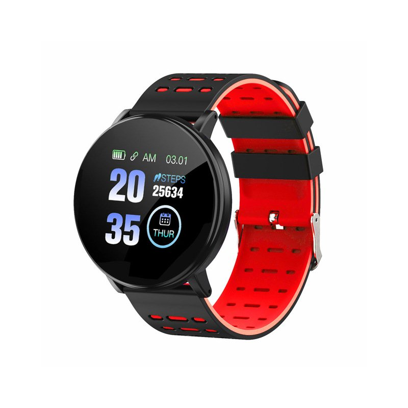 Smart Watch Blood Pressure Heart Rate Pedometer Fitness Tracker Smart Bracelet red