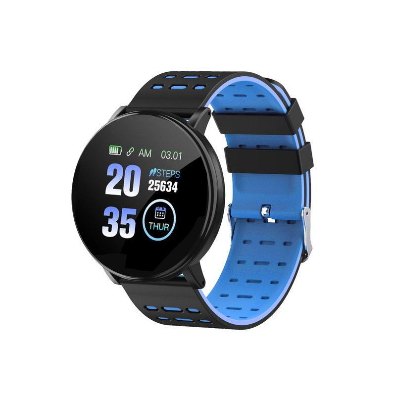 Smart Watch Blood Pressure Heart Rate Pedometer Fitness Tracker Smart Bracelet blue