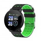 Smart Watch Blood Pressure Heart Rate Pedometer Fitness Tracker Smart Bracelet green