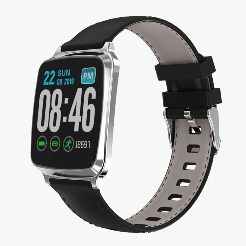 Smart Watch Bracelet Heart Rate Detecting Sports Bracelet Sleep Monitoring Pedometer Silver