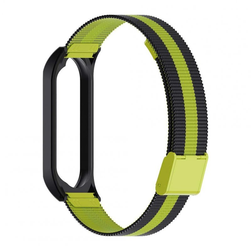 Smart Watch Buckle Wrist Strap Replacement Bracelet Stainless Steel for Xiaomi Mi Band 4 Watch Band  dark green