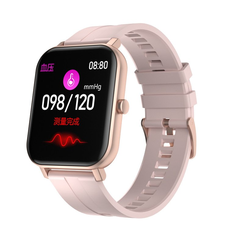 Smart Watch Built-in Battery Temperature Heart Rate Blood Pressure Blood Oxygen Sleep Monitoring Music Control Smart Bracelet Pink