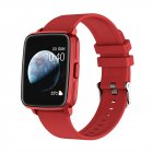 Smart  Watch Hd Screen Music Ip68 Waterproof Sports Monitoring Heart Rate Sleep Pedometer Smart Watch Red rubber belt