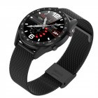 Smart Watch L7 Blood Pressure Bluetooth GPS Sleep Monitor Men Women Watch Black steel