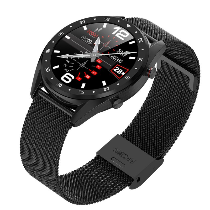 Smart Watch L7 Blood Pressure/Bluetooth/GPS/Sleep Monitor Men Women Watch Black steel