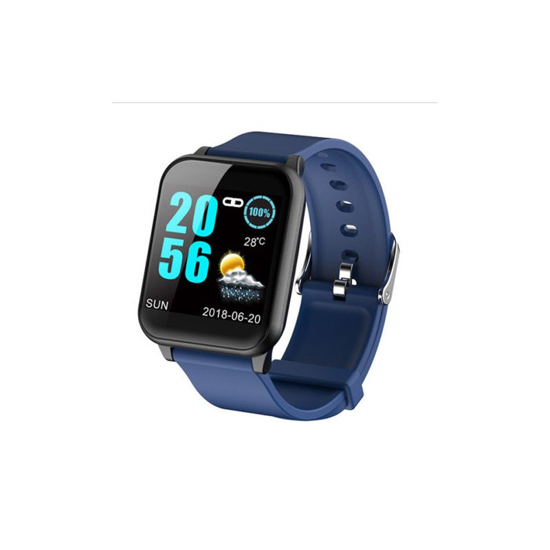 Smart Watch Waterproof Sport Blood Pressure Heart Rate Monitor  for Phone Android Smart Bracelet  blue