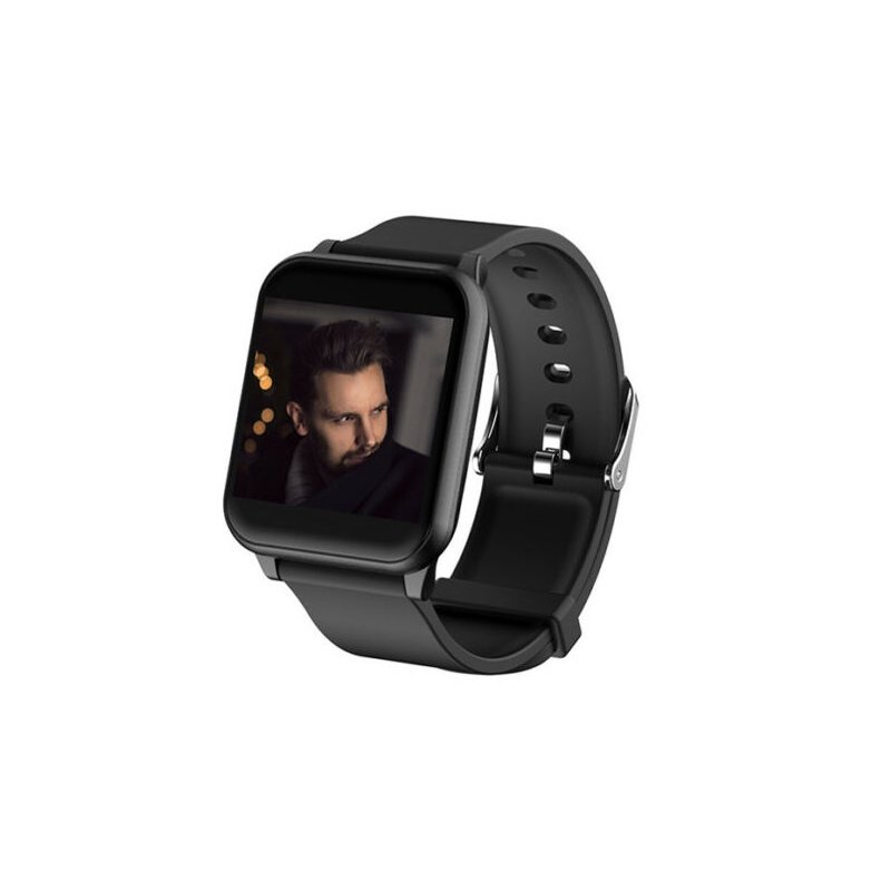 Smart Watch Waterproof Sport Blood Pressure Heart Rate Monitor  for Phone Android Smart Bracelet  black