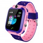 Smart Watch for Kids Phone Watch for Android IOS Life Waterproof LBS Positioning 2G Sim Card Dail Call Pink