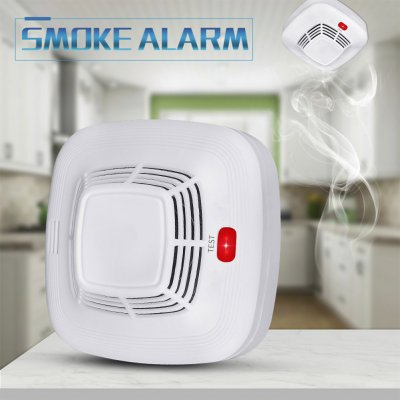 Smoke Alarm Fire Detector Home Independent Wireless Smoke Detector Fire Alarm white
